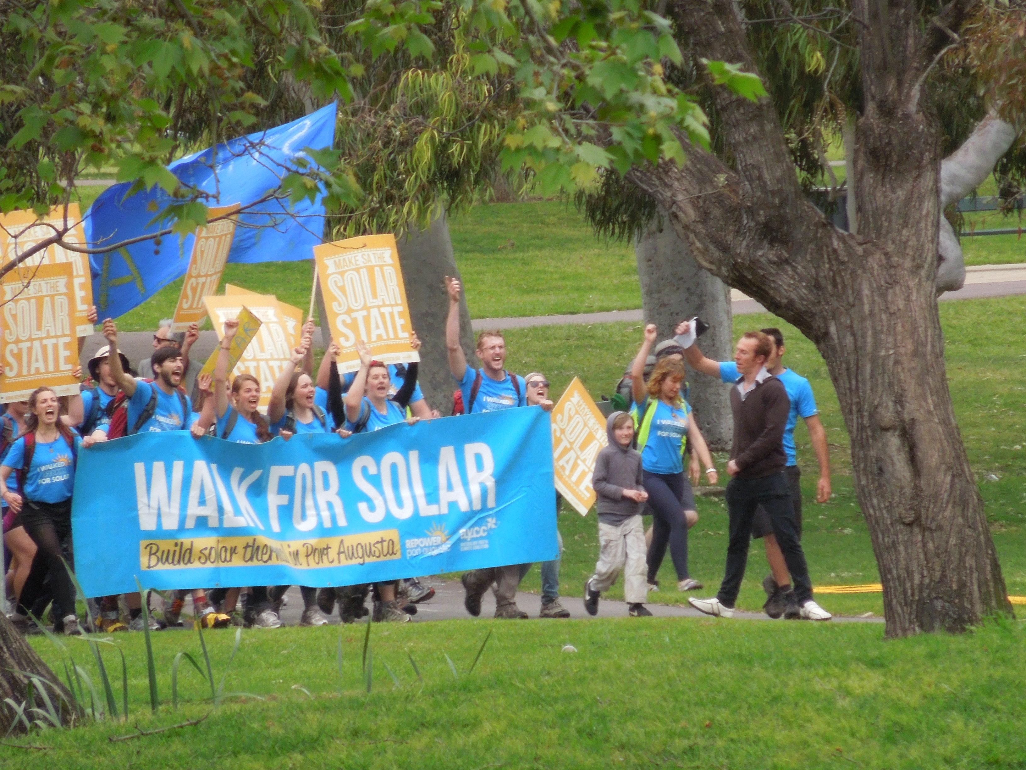 Walking for solar