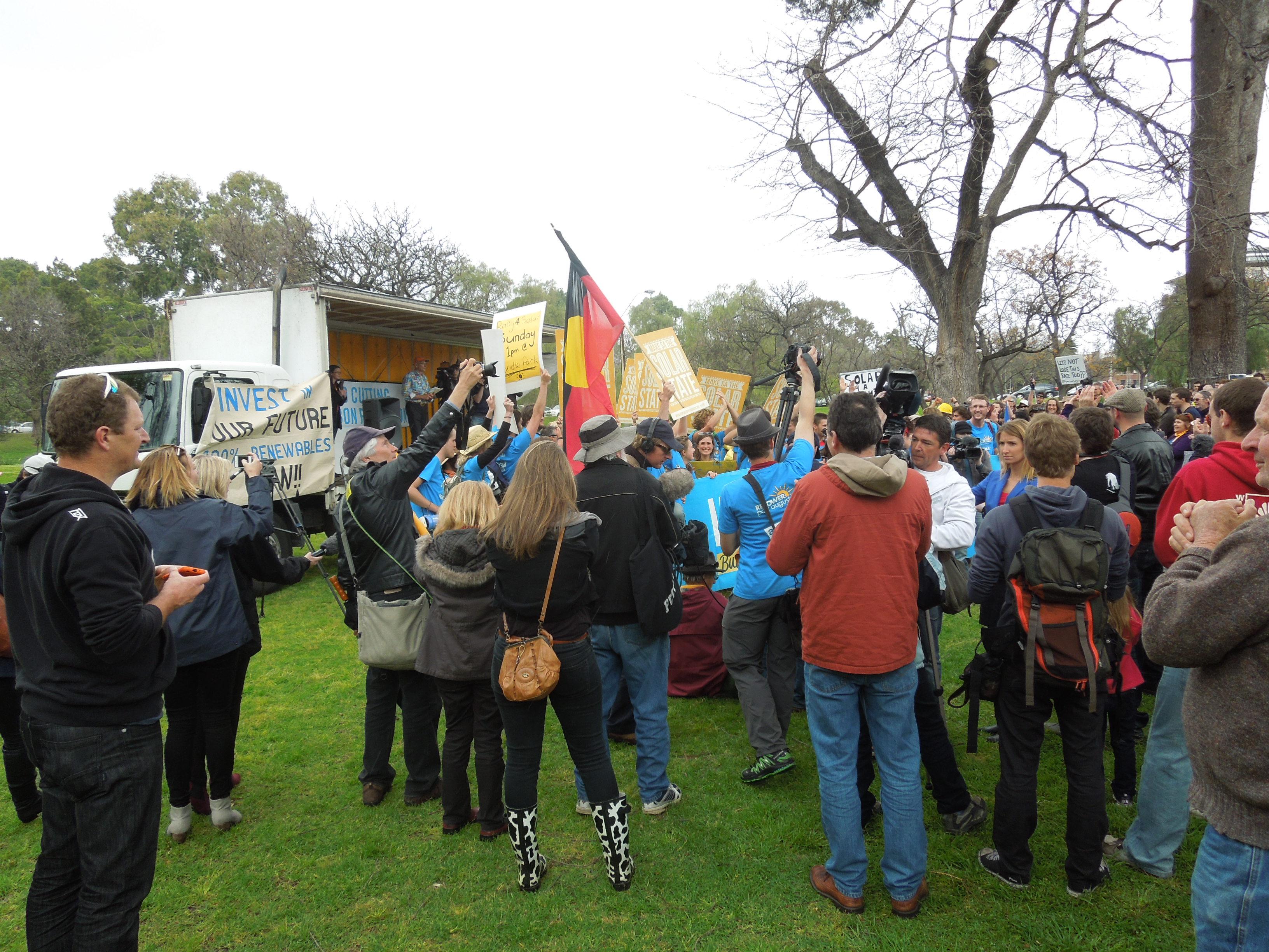 Repowering Port Augusta rally