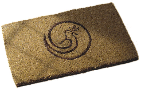 The finished coir doormat