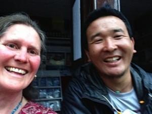 Pemba Sherpa with Philippa