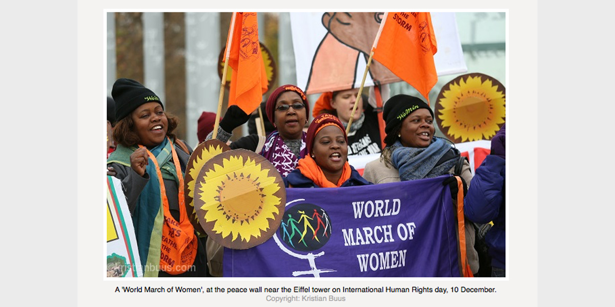 World March of Women - COP21