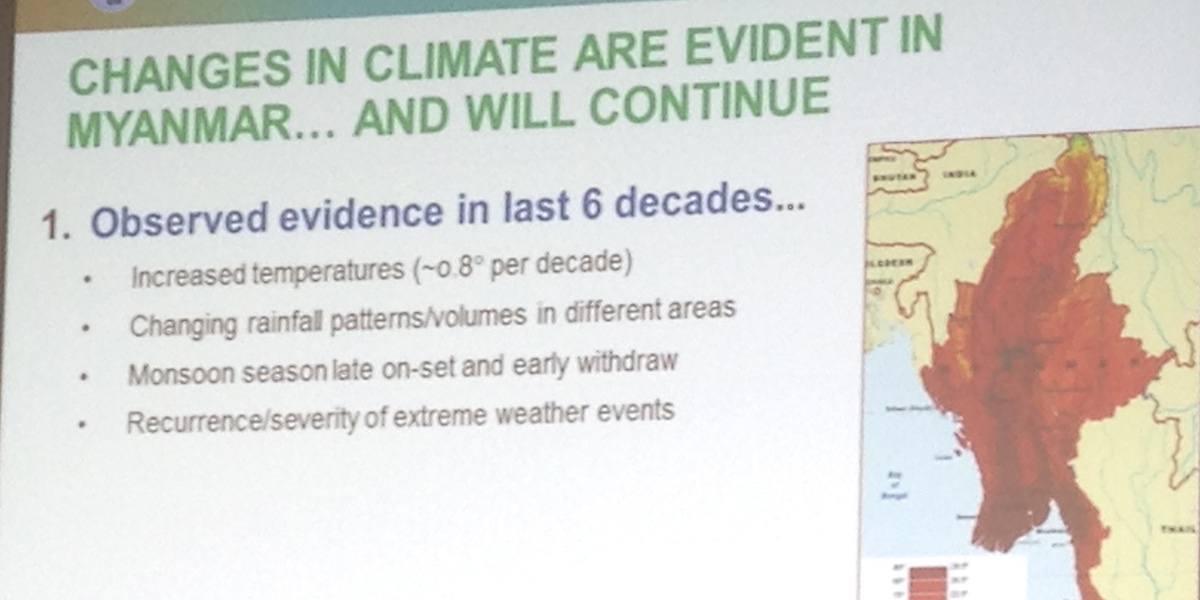 Evidence from Myanmar at COP21