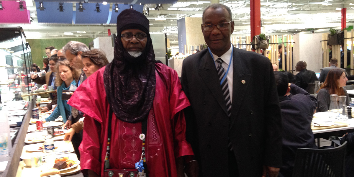 Hyro and colleague in traditional Niger costume