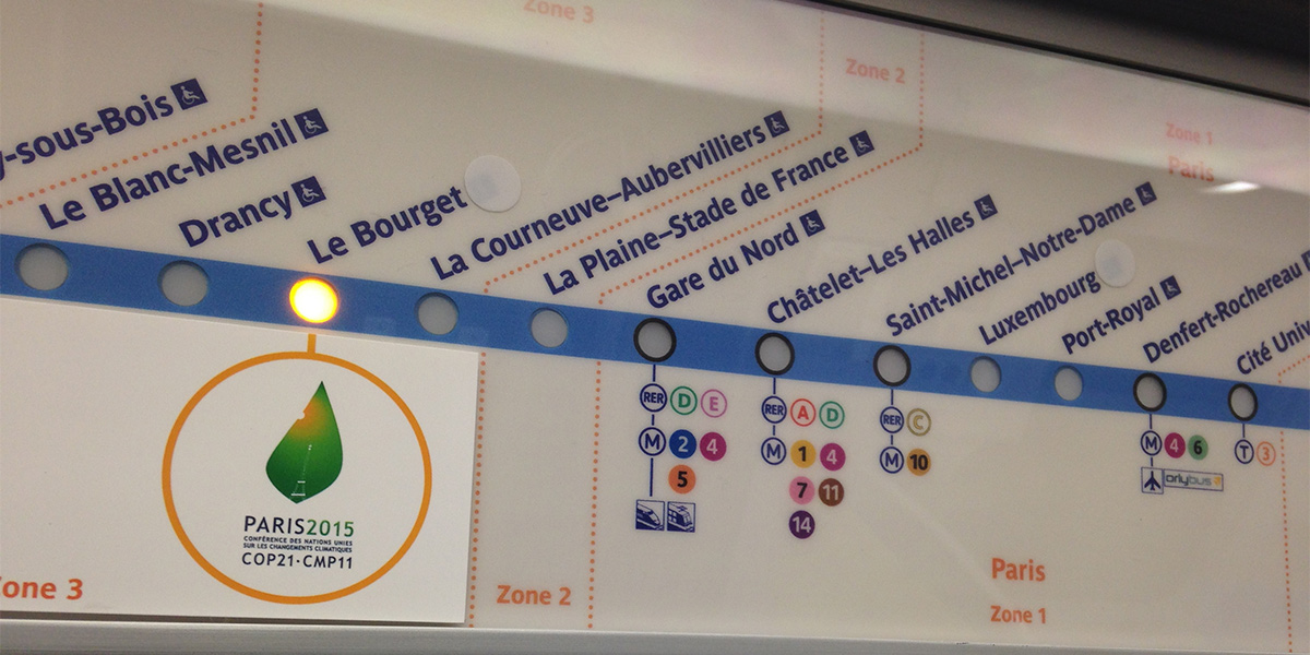#COP21 - on the Paris Metro
