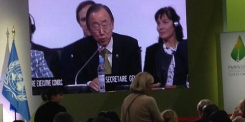 Ban Ki Moon at COP21