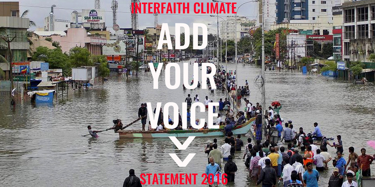Interfaith Climate Change Statement
