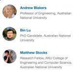 Andrew Blakers, Bin Lu & Matthew Stocks