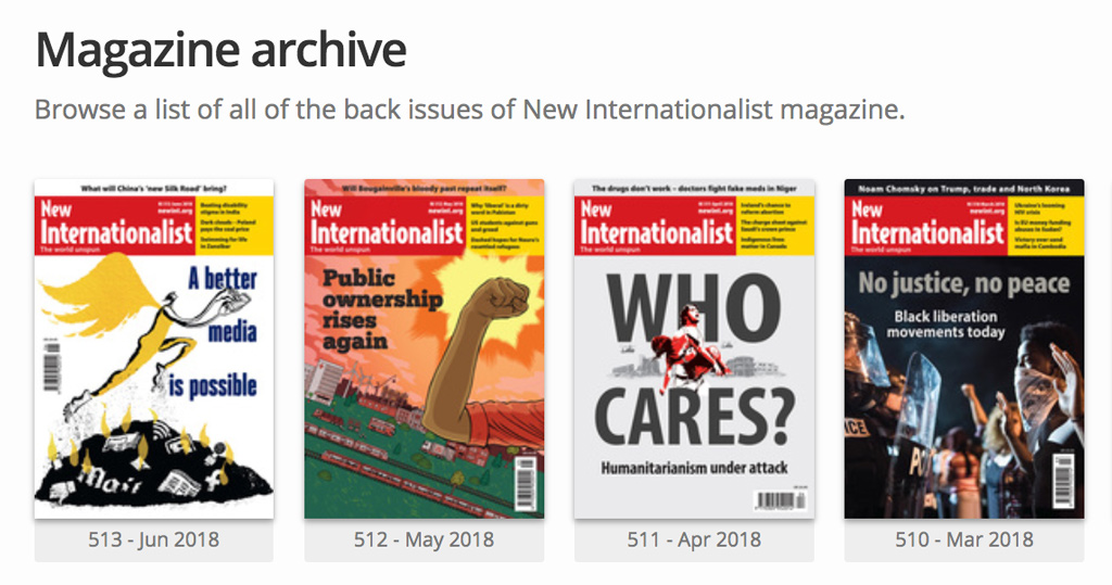 New Internationalist digital magazines