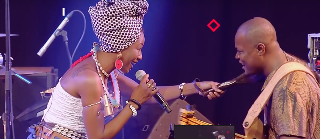 Fatoumata Diawara on stage