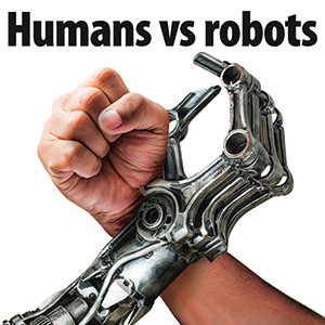 Humans vs robots. Who will gain the upper hand?