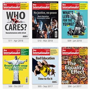 Digital access to a single issue of the New Internationalist magazine