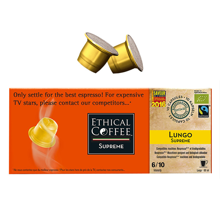 Lungo Supreme Coffee Biodegradable Pods