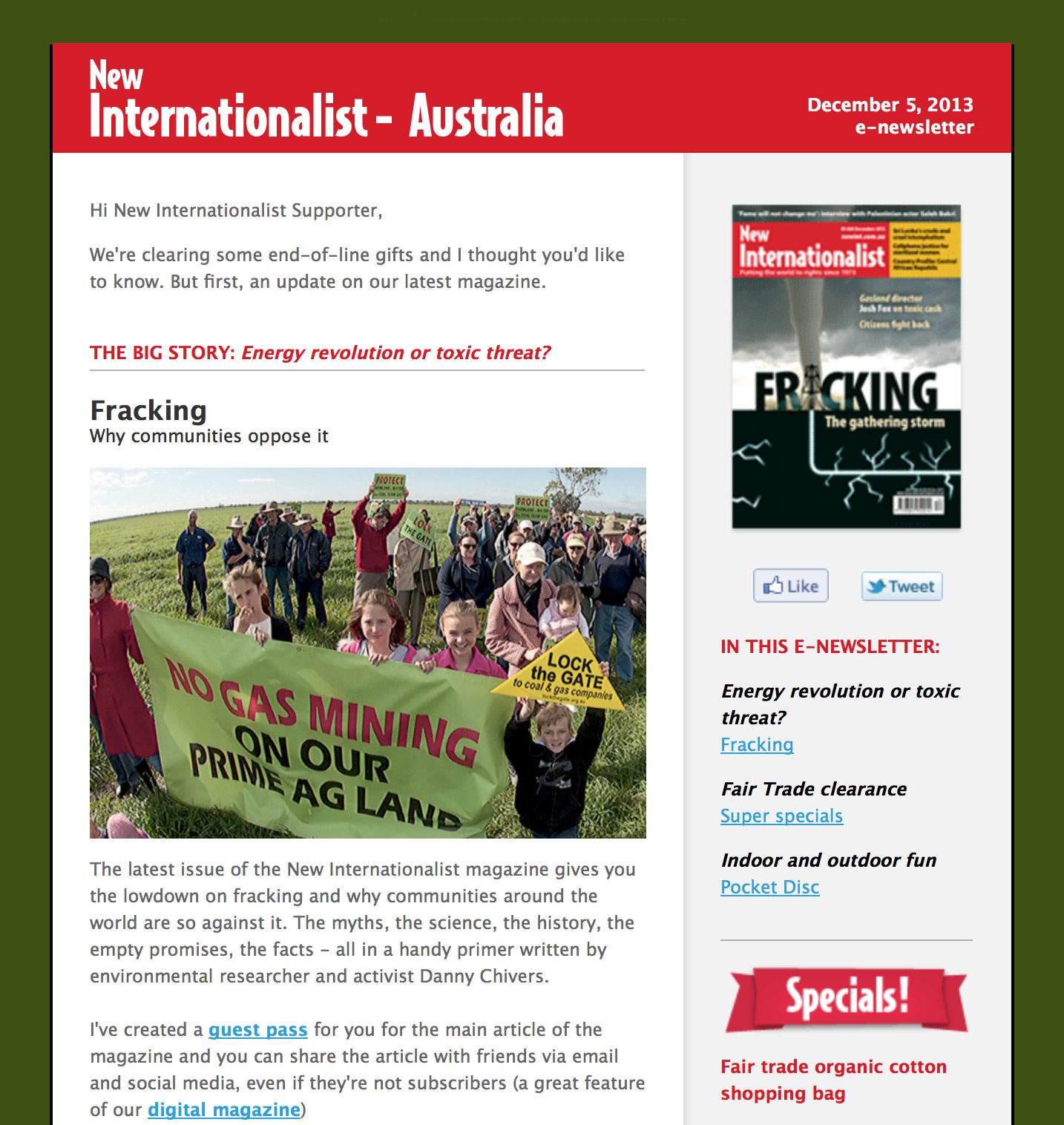 subscribe to the new internationalist email newsletter adelaide